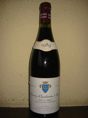 Gevrey-Chambertin 1er Cru, Leroy-P., Combe aux Moines 1989 75Cl