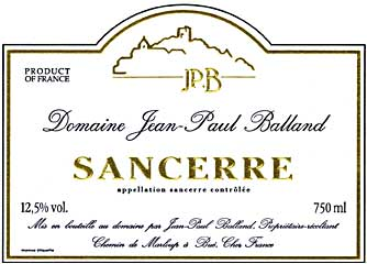 Sancerre, J-P Balland 2005 75Cl