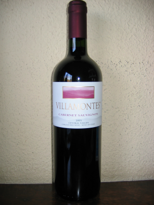 Chili: Central Valley, Villamontes, Cabernet Sauvignon 2005 75Cl